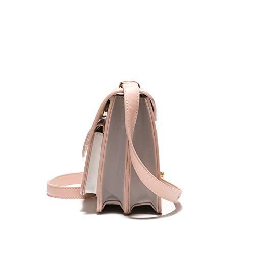 Tridimensionnel Couleur Gray Sac Exquis Pink Unie Tissu De À Joker Bandoulière BxYnT766