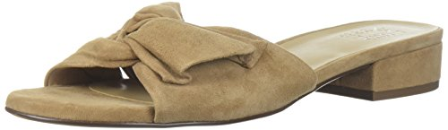 Naturalizer Women's Mila Slide Sandal, Barley Suede, 8 Medium US (Shoes Suede Naturalizer)