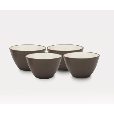 [Noritake 4-Inch Colorwave Bowl, Chocolate, Set of 4] (Colorwave Chocolate Set)