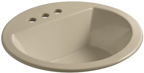 Mexican Sand Vessels (KOHLER K-2714-4-33 Bryant  Round Self-Rimming Bathroom Sink with 4