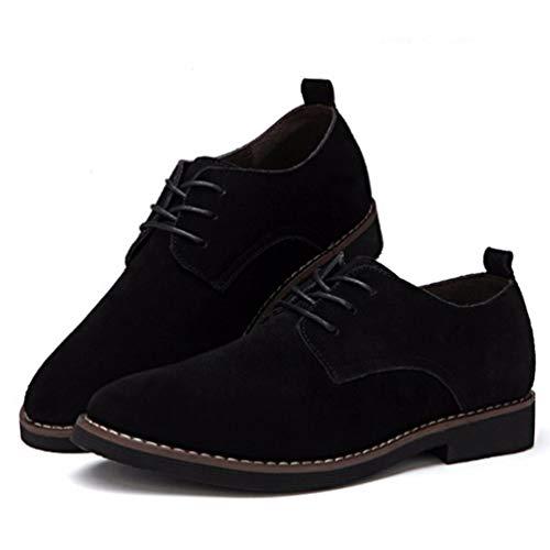 Cuero Negro Moda Zapatos Gamuza Casual Zapatos Primavera Hombres Oxford Oxfords OtoñO Hombres BEPqSS