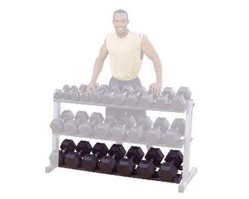Body-Solid-GDRT60-Optional-3rd-Tier-for-GDR60-Dumbbell-Rack
