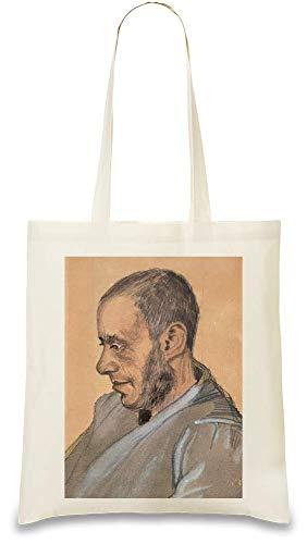 Handbag Re amp; usable Day For Josef Naturel Every Unique Gogh Custom 100 Blok Color Printed Van Peinture Cotton Painting Portrait Stylish Bag Natural Eco Soft Tote friendly RqxHRZBw