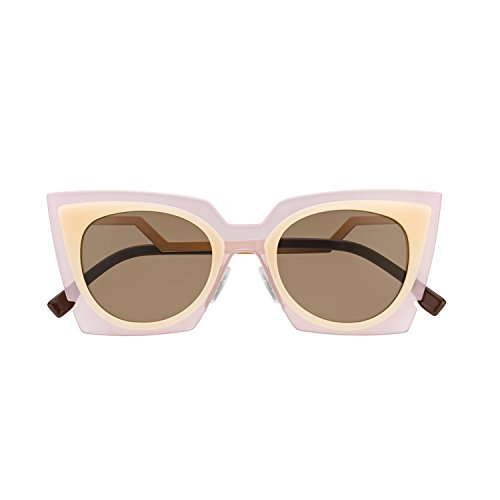 2651aba1d1 Fendi 0117 S Orchid Cat Eye Sunglasses LAQUT Pink   Peach   Tobacco Brown  Lenses - Buy Online in Oman.