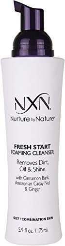 (NxN Fresh Start Deep Pore Facial Cleanser Instant Foaming Make-Up Remover Natural Formula for Oily/Combination Skin, 5.9 Fl Oz)