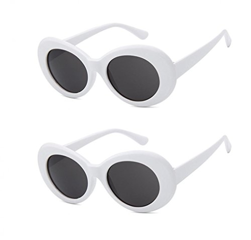 WODISON Women Retro Clout Goggles Men Oval Round Lens Sunglasses Vintage Thick Frame Eyeglasses 2 - With Faces People Oval