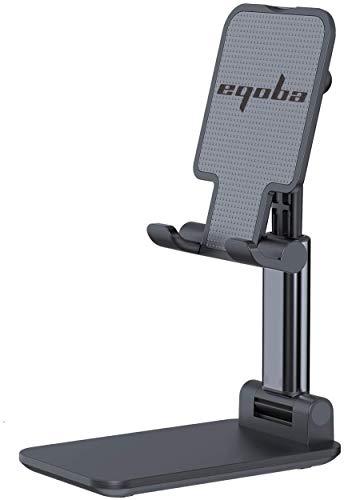 Eqoba Suporte de Telefone Celular, Portátil, Escalável,Rotativo e Dobrável, Compatível Com o Tablet PC,Preto