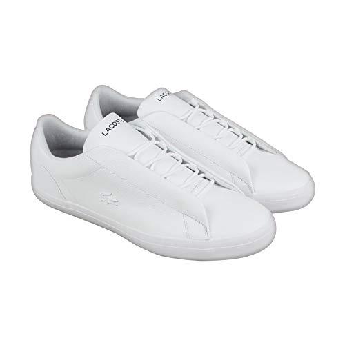 Lacoste Men's Lerond Hidden Lace 318 1 U White/Navy 8.5 M US (Lacoste Mens Lace)
