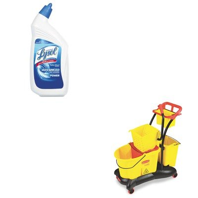 KITRAC74278CTRCP778000YW - Value Kit - Rubbermaid-Wavebrake Mopping Trolley Side Press (RCP778000YW) and Professional LYSOL Brand Disinfectant Toilet Bowl Cleaner (Rubbermaid Wavebrake Mopping Trolley)