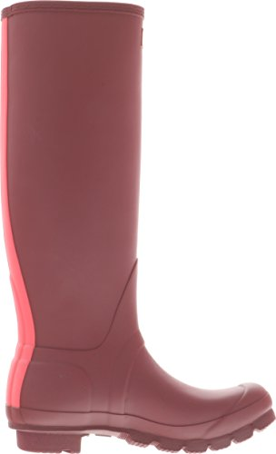 Hunter Womens Original Stripe Knee-High Rubber Rain Boot Damson / Bright Watermelon AsgKk9gd