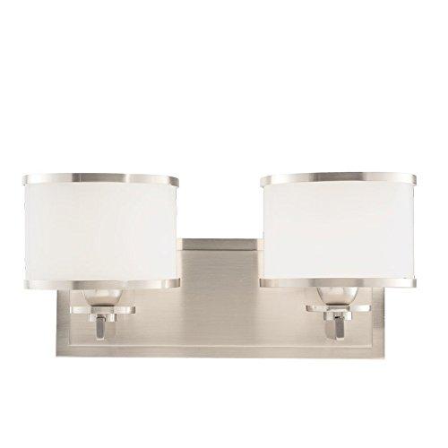 Hudson Valley Lighting 6102-SN Two Light Bath Bracket from The Basking Ridge Collection, 2, Satin Nickel ()