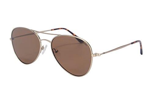 72002 Gold Metal de Lunettes Lunettes Soleil Flash Pilot Lens Soleil de Lunettes Eyeglasses SHINU Mirrored UV400 Hommes de Style Flat Style brown HXRyxq