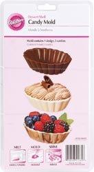 Bulk Buy: Wilton Candy Mold 2/Pkg Dessert Shell 3 Cavities (2 Piece) (6-Pack)