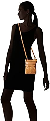 Roma Genuine Leather Multi-Pocket Crossbody Purse Bag
