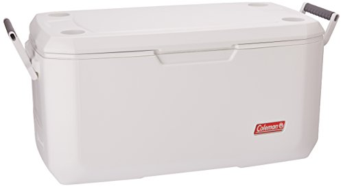 Coleman Coastal Xtreme Series Marine Portable Cooler, 120 Quart (Steel Cooler Stainless Wheels On)