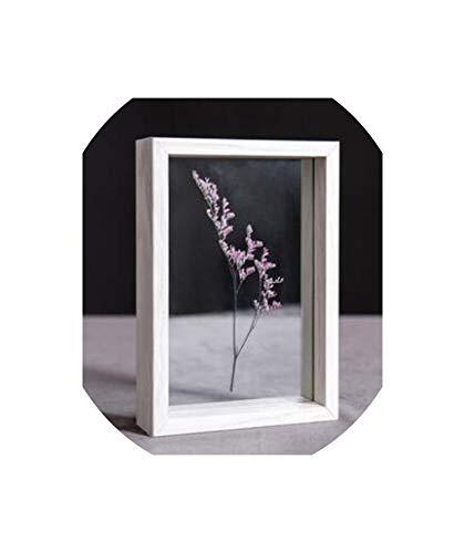 - Glass Specimen Photo Frame DIY Plant Specimen Photo Frame Wooden Creative Decorative Frame,White,6 Inch