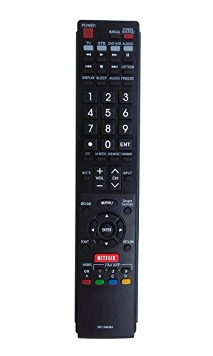 Vinabty New Replaced TV Remote GB118WJSA for SHARP TV Remote Controller GB004WJSA GA935WJSA GA890WJSA GB105WJSA LC-60SQ17U LC60TQ15U LC-60TQ15U LC60UD27U LC70UD27U LC-70UD27U LC-70UQ17U LC-80UQ17U