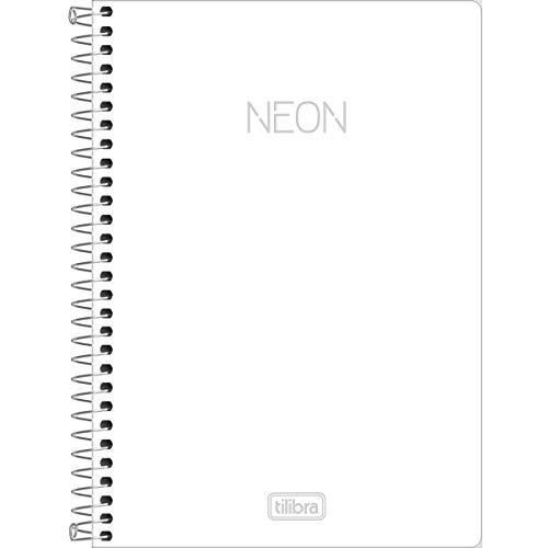 Caderno Universitário Capa Plástica, Tilibra, Neon, 302406, 160 Folhas, 10 Matérias, Multicolor