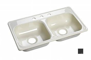 deluxe 33 u0026quot  x 19 u0026quot  x 6 u0026quot  kitchen sink     deluxe 33   x 19   x 6   kitchen sink finish  black   double bowl      rh   amazon com