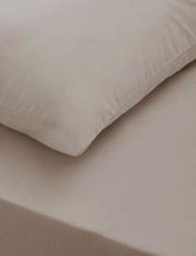 LnB T-200 Spannbettlaken aus 100% ägyptischer Baumwolle, für Einzelbett, Doppelbett, King-Größe, Super-King-Größe-Betten, Mokka, Doppelbett B0787V5SNL Kopfkissenbezüge