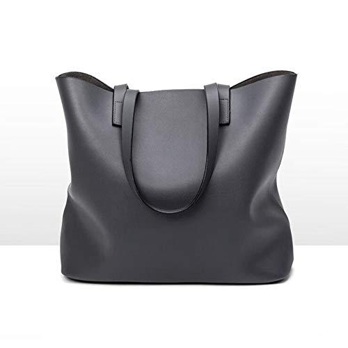 Noir Grand fibre Bandoulière Sac Sac Dames Dames Seau De à Nouveau Ultra Le Gray Sac Sac Sac qwz0zH
