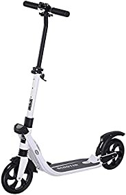 Soozier Adjustable Pro Kick Scooter Foldable Ride On Bike 3 Level Height with Brakes and Kickstand Large Solid
