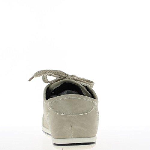 Scarpe basse donna beige opaco.