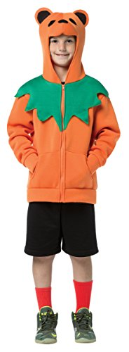 Dancing Bear Costumes (Rasta Imposta Grateful Dead Bear Hoodie, 7-10, Orange)