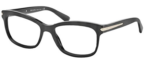 Prada Women's PR 10RV Eyeglasses Black 53mm by Prada