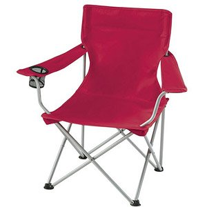 Amazing Red Folding Ozark Trail Deluxe Arm Chair W/ Drink Holder