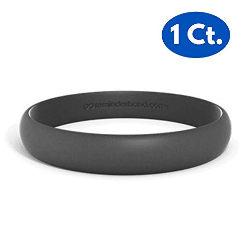 Reminderband Custom Contour 100% Silicone Wristband - Personalized Silicone Rubber Bracelet - Customized, Events, Gifts, Support, Causes, Fundraisers, Awareness - Men, Women, Kids -