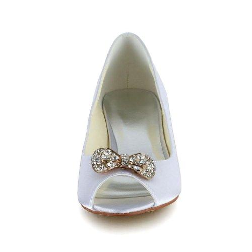 0116 Jia Chaussures Femme Mariée Blanc Wedding Pour Mariage Escarpins De 45qSfx5