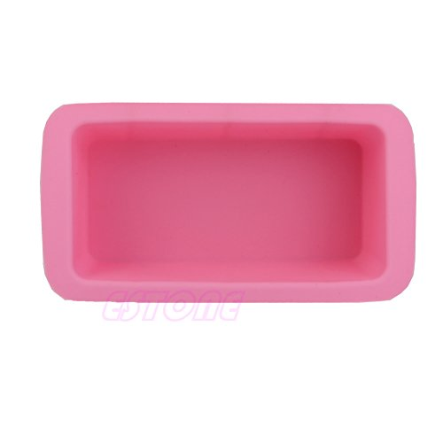 Tairacy Soap Molds Mould Silicone Ice Cube DIY Candy Chocolate Cake Cookie Molds (Single -Rectangle)