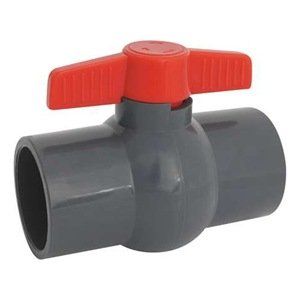 "Hayward PVC Ball Valve, Gray, One Piece, EPDM Seal, 3/4"" Socket by Hayward"