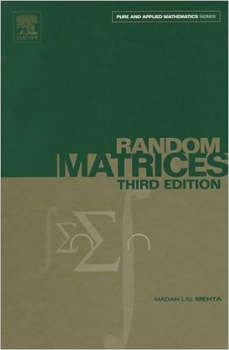 Random Matrices (Pure and Applied Mathematics Book 142) 3