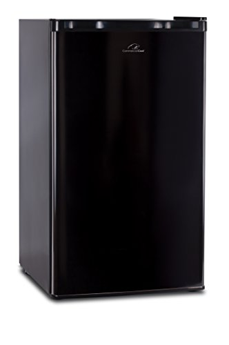 Commercial Cool CCR32B Compact Single Door Refrigerator and Freezer, 3.2 Cu. Ft. Mini Fridge, Black