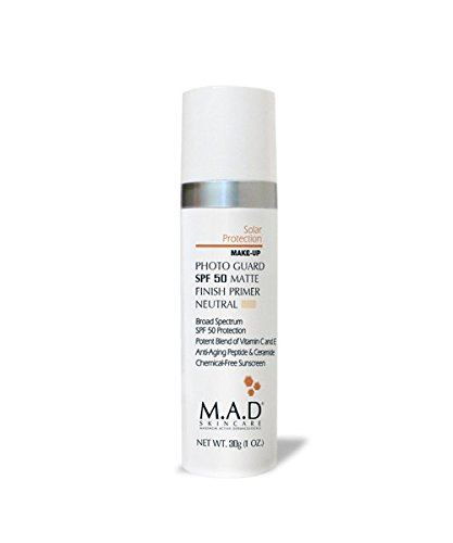 M.A.D Skincare Solor Protection Photo Guard SPF 50 Matte Finish Primer - Anti-Aging (Neutral)