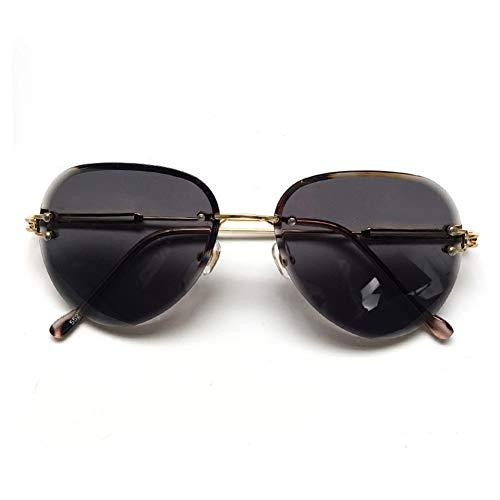 soleil dégradées de NIFG Lunettes cadre métal lunettes polygonales sans minces de en soleil 8w0qrx8a
