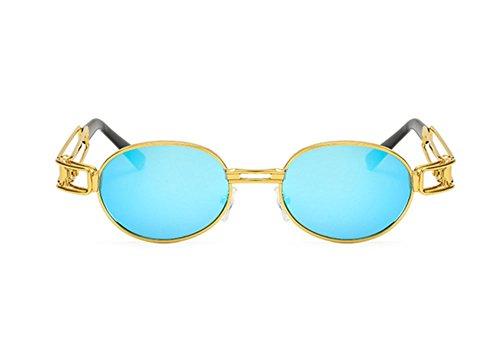 UV400 Oval de C9 Retro Gothic Steampunk Gafas UV Protección Keephen sol wxTqU1R1
