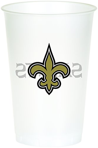Creative Converting Officially Licensed NFL Printed Plastic Cups, 8-Count, 20-Ounce, New Orleans Saints - Nfl Football Plastic Cup