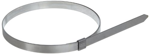 BAND-IT JS2449 Junior 1/4'' Wide x 0.020'' Thick, 3'' Diameter, 201 Stainless Steel Smooth I.D. Clamp (100 Per Box) by Band-It