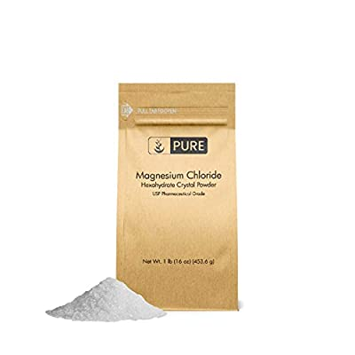 Magnesium Chloride (1 lb.) by Pure Organic Ingredients, Eco-Friendly Packaging, Crystal Powder, Highest Quality, Oral Supplement, Food & USP Pharmaceutical Grade(Also in 4 oz, 2 lb & 4 lb)