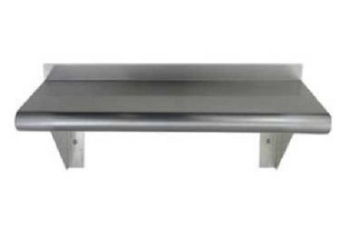Stainless Steel Wall Mount Shelf. NSF Certified. All Sizes.. (12'' X 72'')