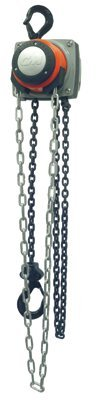 CM 5637A Steel Hurricane Hand Chain Hoist with Hook Mounted, 6000 lbs Capacity, 20' Lift Height