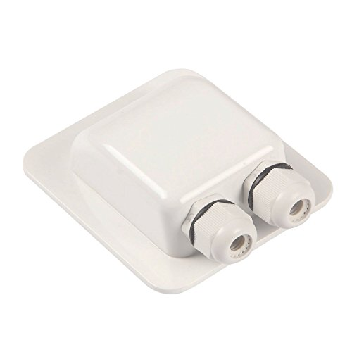 Waterproof ABS Double Cable Entry Gland for Solar Panels,Motorhomes,Caravans,Boats- For All Cable Types 6mm² to 12mm²