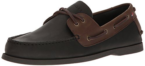Tommy Hilfiger Mens Bowman Shoe, Black, 12 Medium US