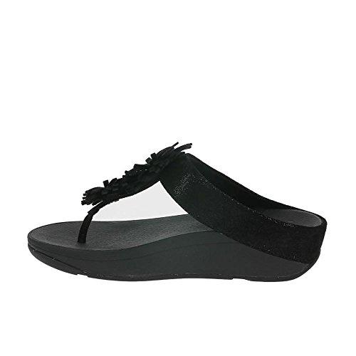 Uk6 Puesto Negro Dedo Skyrocket Del Fitflop Pie Sandalias wq0AnIC