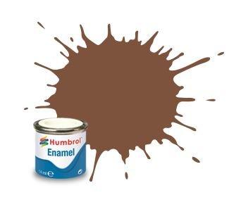 Humbrol Enamel Paint Brown Matt 14ml #0186