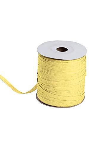(Yellow Matte Raffia - 1/2