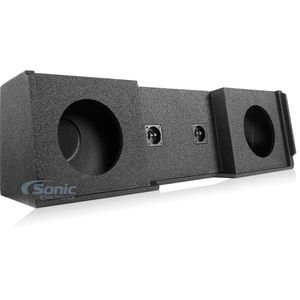 Atrend A152-10 Atrend Series 10-Inch Dual Down-Fire Subwoofer Boxes with Bed Liner Finish